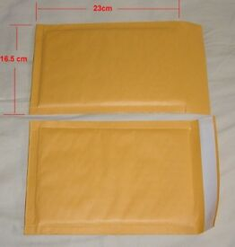 100 x high quality paper PADDED BAGS ENVELOPES 16.5x23cm