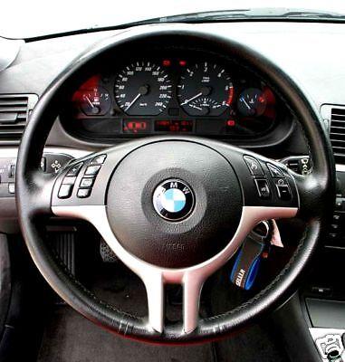 COPRIVOLANTE IN VERA PELLE NERO PER BMW E46 E 36 NUOVO