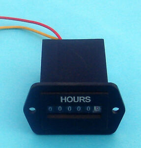 120V 240V AC Generator Hour Meter 36mm x 24mm Mounting Opening Size