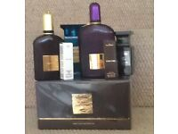 Tom ford, collection of purfumes, candles, makeup,