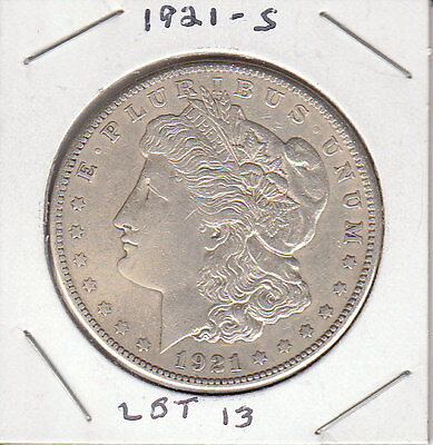 1921 S MORGAN SILVER DOLLAR. 90% SILVER. BEAUTIFUL CONDITION