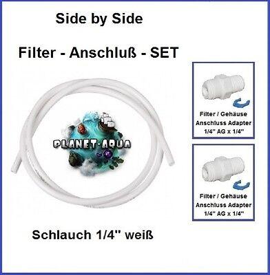 Side-by-Side Kühlschrank Filter Anschluss Osmose Schlauch + 2 Fitting Verbinder (Kühlschrank Schlauch-anschluss)