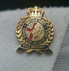 Britain first pin lapel badge, taking our country back.