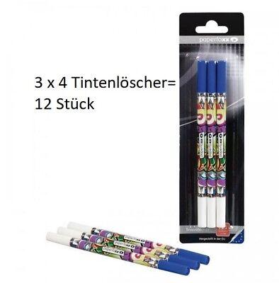 12 x Paperfoxx Tintenlöscher Tintenkiller Korrekturstift Tinte Stift NEU