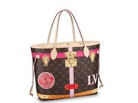 Louis Vuitton Neverfull Bag with Clutch - NEW