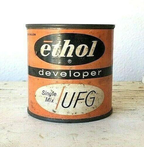 NOS VTG UFG Single Mix Ethol Paper Developer Can 2.79oz Makes 1 Quart Expired