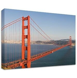 golden gate bridge canvas large wall art photo us usa. Black Bedroom Furniture Sets. Home Design Ideas