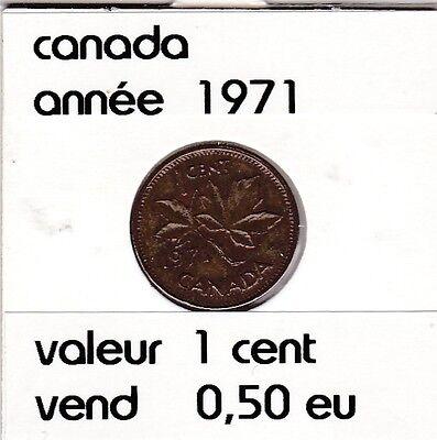 C 2 )canada 1 cent  1971 voir descrition