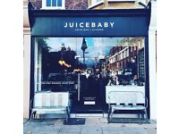 Sales Assistant/Sales Supervisor: Organic Cold-Pressed Juice Bar + Kitchen