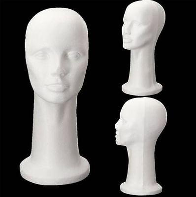 Styrofoam Foam Head Cap Hat Display Manikin Mannequin Wig Hair Glasses Holder