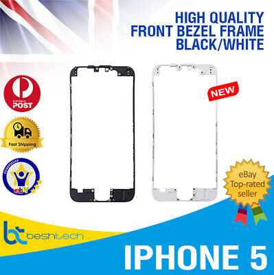 For iPhone 5 LCD Digitizer Touch Screen Front Frame Middle Bezel Brand Blk/Wht Wht Lcd