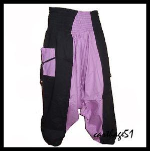 sarouel pantalon femme coton noir gris vert bleu rouge orange mauve 38 40 42. Black Bedroom Furniture Sets. Home Design Ideas