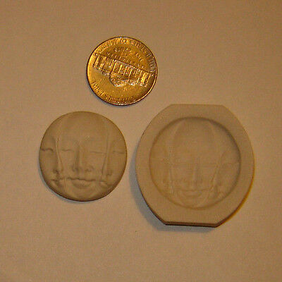 Triple Moon Face Goddess Polymer Clay Push Mold Wicca, Pagan Diy Jewelry ☽✪☾