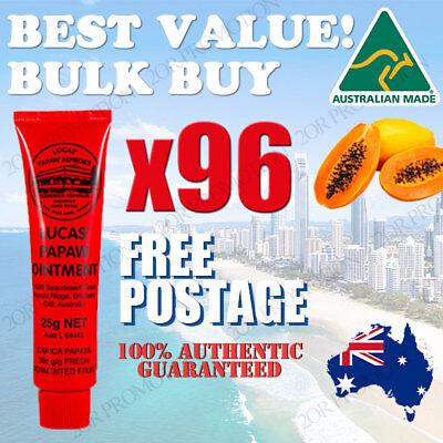 96 X Lucas Papaw Ointment Cream Paw Paw Handy Tube 25g BEST PRICE -