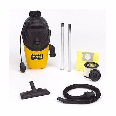 Shop Vac shopPac Back Pack shopVac Vacuum Cleaner 6.5 Peak HP Lock on Hose