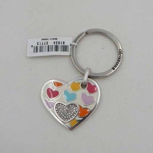 Brighton BON BON HEART Key Fob E14640 NWT