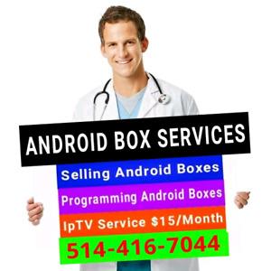 * Android Boxes - Selling / Programming / IPTV Repair fix update