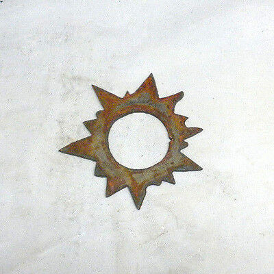Lot Of 4 Sun Shapes 3 Rusty Metal Vintage Ornament Craft Sign Wind Chime