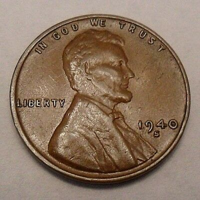 1940 S Lincoln Wheat Cent / Penny Coin  *FINE OR BETTER*  **FREE SHIPPING**