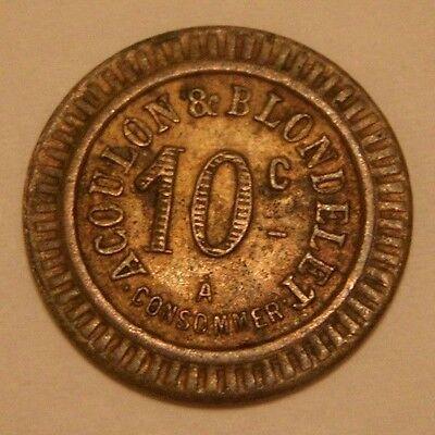 OLD  ACOULON & BLONDELET TOKEN / JETON - 10c No 550