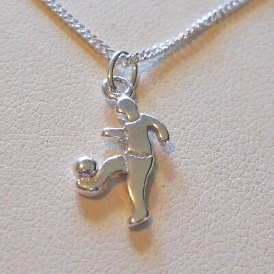 (Sterling Silver Soccer Player Ankle Bracelet - 10