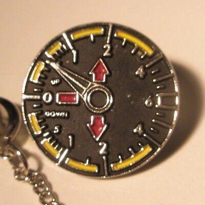 Tachometer Vintage Lapel Pin engine gauges rpm speed racer gift