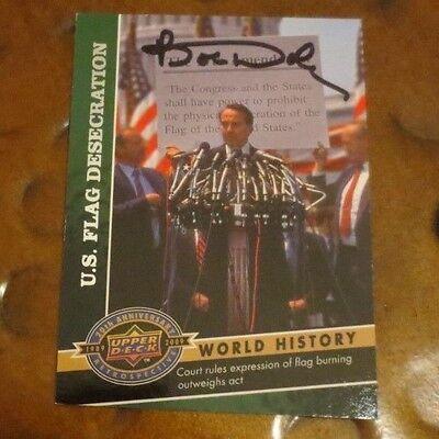 Kansas Senator Bob Dole signed autographed trading card Republican War Hero