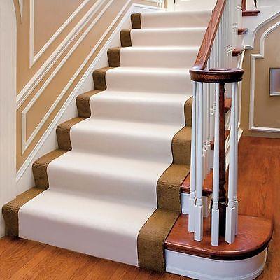 20 Foot Beige Non Slip Carpet Stair Floor Protector Runne...