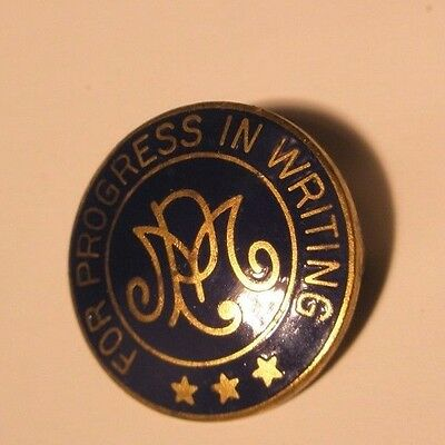 Progress in Writing Gold Tone Vintage Lapel Pin balfour gift
