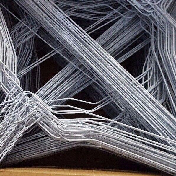 100 Stück Draht Kleiderbügel,Drahtbügel 2,0 mm Weiß ohne Einkerbung TOP Qualität