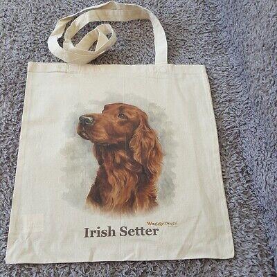 IRISH SETTER DOG TOTE BAG SHOPPER REUSABLE BAG BY WAGGY DOGZ