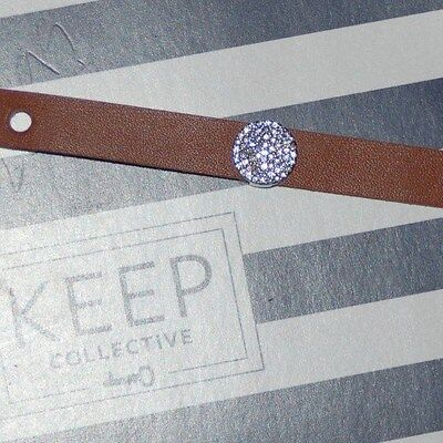 Keep Collective Silver Pave Disc Key      A Little Bling