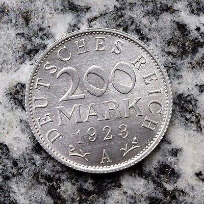 200 Mark 1923 A Alu Kursmünze Weimarer Republik Notgeld - Top Erhaltung Unc. !