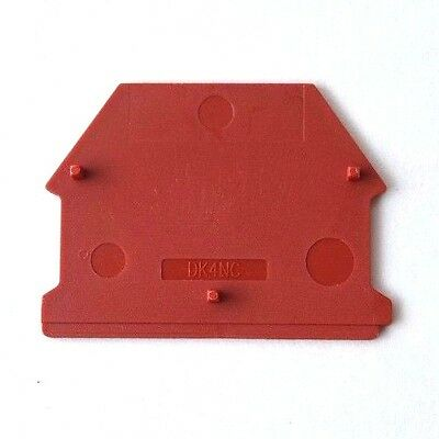 Din Rail Terminal Block End Covers 50 Quantity Dinkle Dk4nc-rd For Dk4n-rd Red