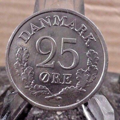 CIRCULATED 1964 25 ORE DENMARK COIN (71617)1
