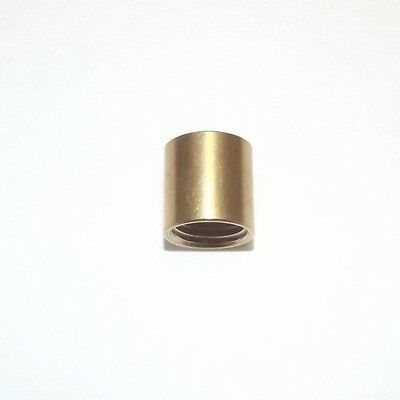 """UNFINISHED BRASS COUPLING TAP 1/4IP FOR 1/2"""" LAMP PIPE LAMP PART NEW 21127UJB"""