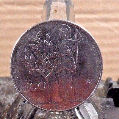 CIRCULATED 1977 100 LIRA ITALIAN COIN (71617)1