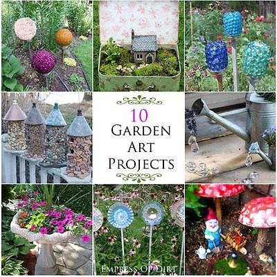 How to make a suitcase fairy garden ebay for Garden art to make
