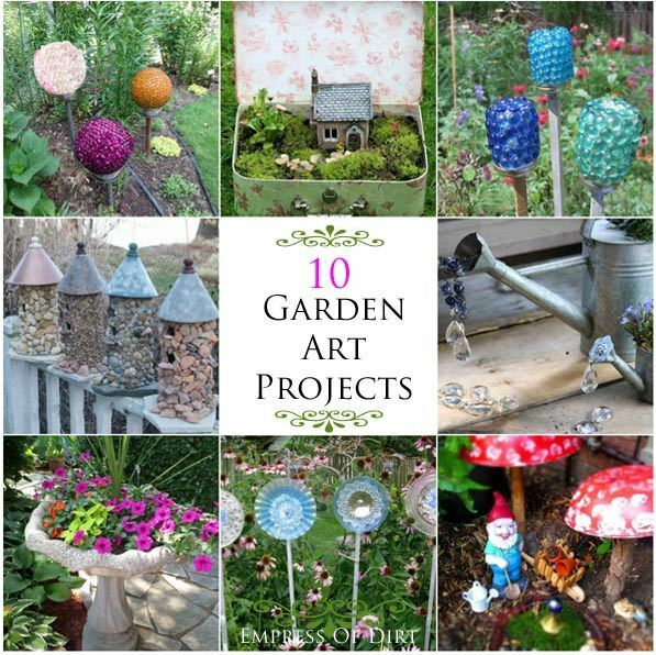 10 Frugal Easy Garden Art Projects eBay