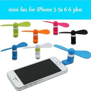 Mini Fan MIcro USB et Apple Iphone 5 6 7 (5pins)