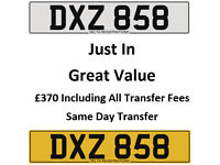 DXZ 858 – Price Includes DVLA Fees – Cherished Personal Private Registration Number Plate