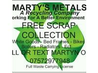 ♻ FREE SCRAP METAL COLLECTION ♻ Marty's Metals A Recycling Company