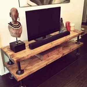 Custom Pipe Leg TV Stand - Brand New $350