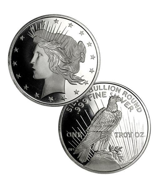 Deal! Peace Silver Dollar Design 1 oz .999 Fine Silver Round SKU34187
