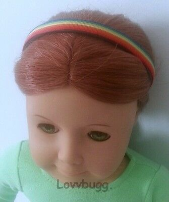 "Lovvbugg Rainbow Headband for 18"" American Girl Doll Accessory"