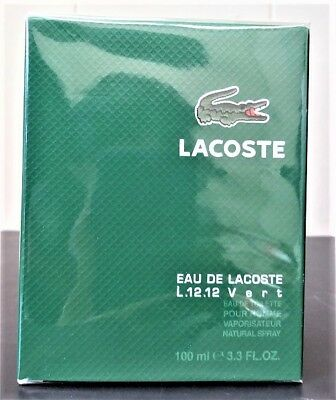 EAU DE LACOSTE L.12.12 VERT  3.3 OZ / 100 ML EDT SPY MEN COLOGNE DISCONTINUED
