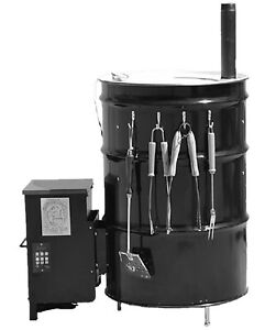 55 gallon drum uds smoker complete hopper assembly kit w pid controller ebay. Black Bedroom Furniture Sets. Home Design Ideas