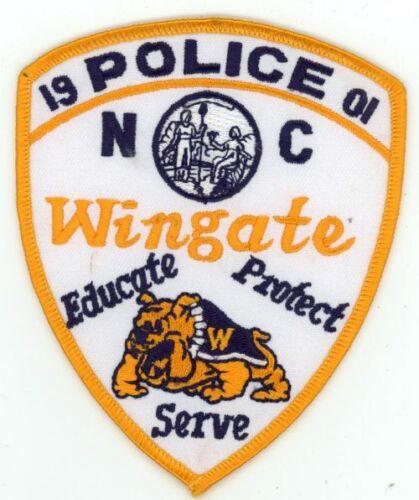 WINGATE POLICE NORTH CAROLINA NC NICE COLORFUL PATCH SHERIFF