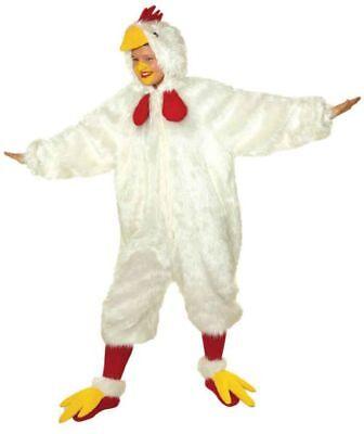 Huhn Overall Herren Kostüm als Vogel verkleiden an Karneval (Huhn Vogel Kostüm)