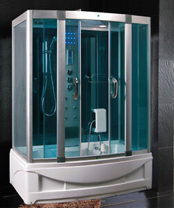 Cabina idromassaggio 150x90 per box doccia vasca sauna con - Cabina doccia sauna ...